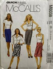 McCall/'s 7933 Sewing Pattern to MAKE Easy Pull-On Stretch Skirts Hem Variations