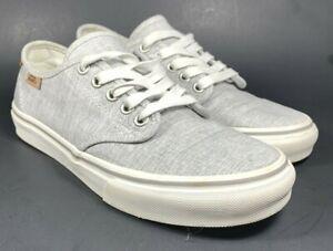 Details about Vans Authentic Womens US 7 EU 37 Gray/White Canvas Shoe 7211356 Ortholite