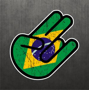 shocker brazilian flag sticker vinyl decal brazil car truck decal