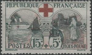 FRANCE-STAMP-TIMBRE-N-156-034-CROIX-ROUGE-1918-15c-5c-INFIRMIERE-034-NEUFxxTTB-K143