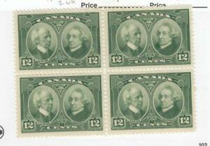 CANADA-MK3361-147-VF-2MNH-2LH-12cts-LAURIER-MACDONALD-BLK-OF-4-CAT-VAL-90