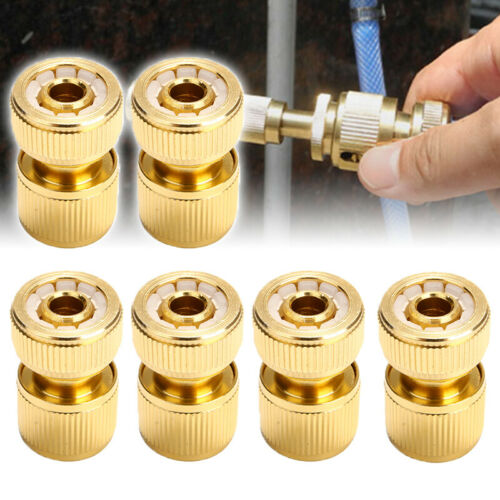 6er set Messing Kupplungen Schlauchanschluss Schnellkupplung Verbinder Adapter