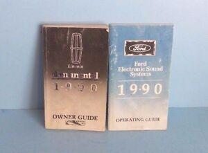 90 1990 lincoln continental owners manual ebay rh ebay com 1998 lincoln continental owners manual lincoln continental owners manual 2017