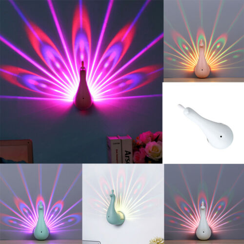 Luminous LED Colorful Light Night Lamp Peacock Ring For Light Club Concert Kids