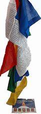 Tibet Gebetsfahnen Baumwolle Cotton Fahne ,ca 2,50 m , Nepal Buddhismus