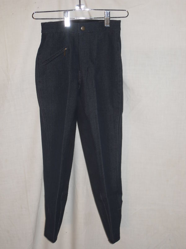 NEW SIZE 6 NAVY DENIM FULL SEAT BREECH CLARINO LEATHER