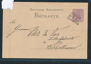 28883) Bahnpost L3 Jübeck Tönning Cap Ii, Cristallin Sur Ga 1882-afficher Le Titre D'origine