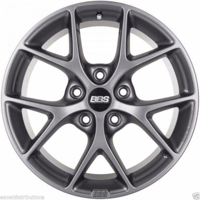 BBS SR 18x8 +40 Offset 5x114.3 Satin Grey Wheel -82mm PFS/Clip Required SR017SG