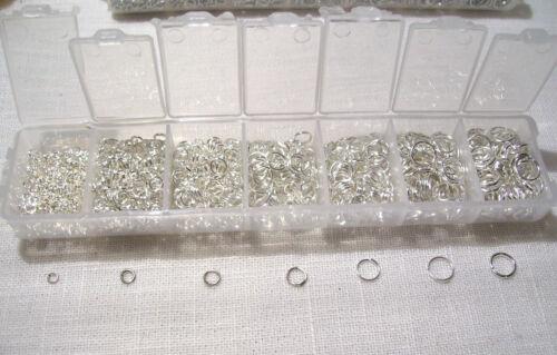 1500 pcs de 3 à 9 mm Breloque Bracelet Charm Perles BOITE ANNEAUX de JONCTION