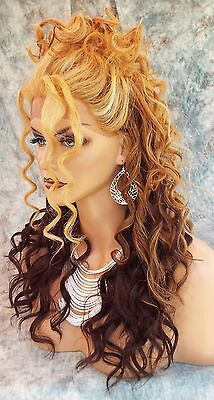 LACE FRONT LOVELY COLOR F2032 DAZZLING SEXY CORKSCREW CURLS STYLE USA SELLER 403