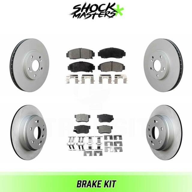Front & Rear Semi Metalic Brake Pad & G-Coated Rotors For
