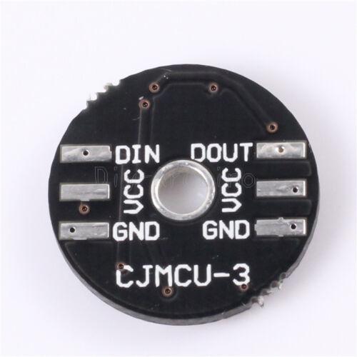 1Stks WS2812 3Bit 5V 5050 RGB LED Lamp Panel Board Round for Arduino
