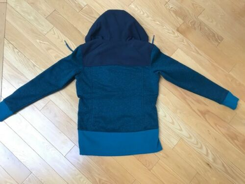 $99 The North Face Women/'s Tech Sherpa Jacket Coat Hood Pullover Small Blue NEW