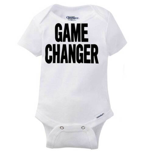 Game Changer Funny Cute Gerber OnesieLife Changing Adorable Gift Baby Romper