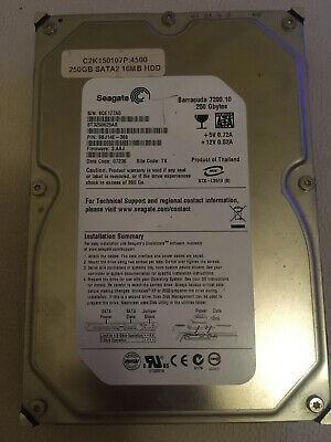 Hard Drive HDD 250GB 3.5 SATA Seagate Barracuda 9QE177A0