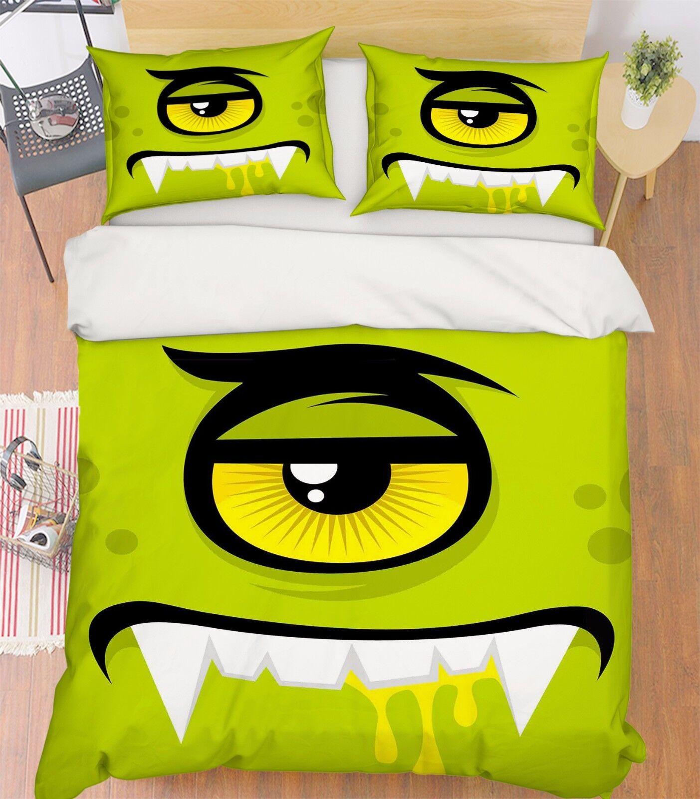 3D Eye Pattern 1 Bett Pillowcases Quilt Duvet Startseite Set Single Königin König Größe AU