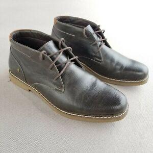 Calvin-Klein-M-Pierce-Brown-Ankle-Boots-Mens-Size-9-5