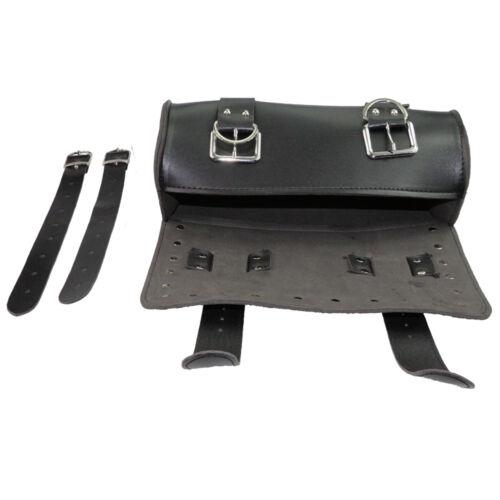 Black Motorcycle Front Fork Tool Storage Bag SaddleBag for Harley Sporster Dyna
