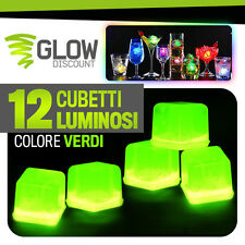 12 CUBETTI GHIACCIO FLUO LUMINOSO VERDI fluorescente cocktail glow party 15033