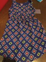 Dress 7/8 Girls Blue Pattern Sleeveless