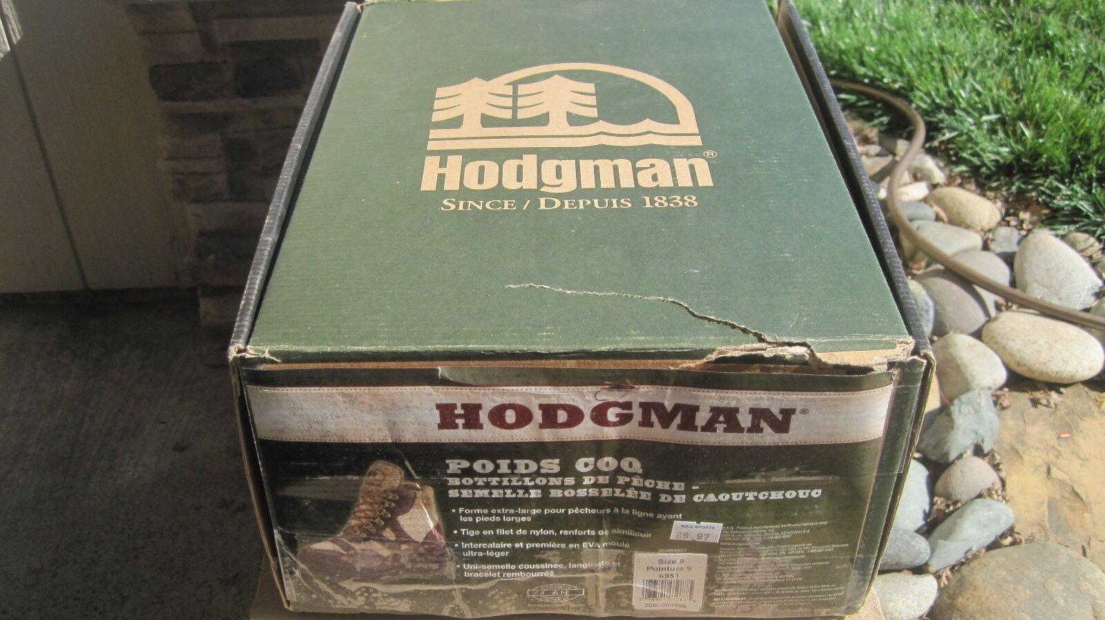 Hodgman Poids COQ Wading scarpe Rubber Nipple Sole 6951 marrone Uomo 9 NEW