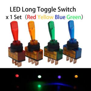 10 stk 12V 20A Auto KFZ 3-Polig Kippschalter LED Beleuchtet Schalter Weiß