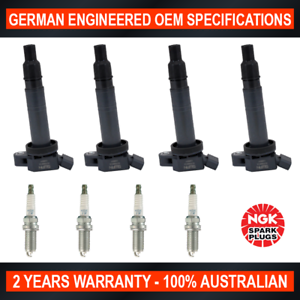 4-x-NGK-Iridium-Spark-Plugs-amp-4-x-Ignition-Coils-Toyota-Camry-Hilux-Hiace-Regius