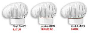 KochmÜtze Neu Tricolor Linea Italie Schwarz Oder Bordeaux Egochef KochmÜtze Hell Und Durchscheinend Im Aussehen Sonstige Herrenmode