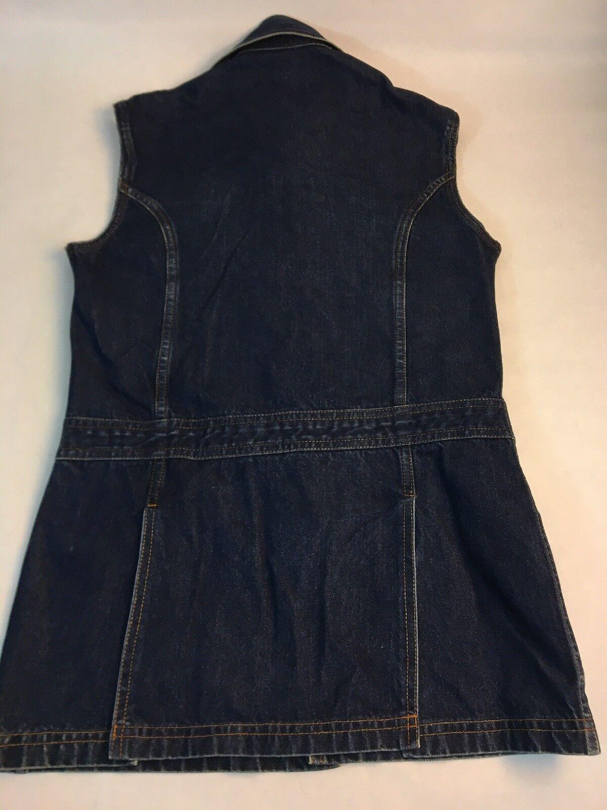 Levi's Big E Denim Jumper Women's Jean Dress Dark… - image 3