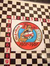 Isle Of Man Diamond Jubilee 1967 Sticker Agostini Royal Enfield BSA Triton