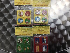 Mary-Engelbreit-Erasers-Lot-of-4-Packs-of-4-Christmas-Theme-New-In-Package