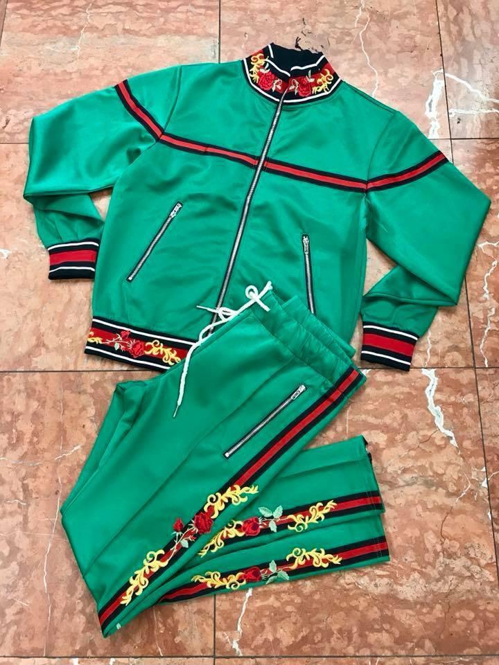 Men's Forest Green Fashion Sweatsuit