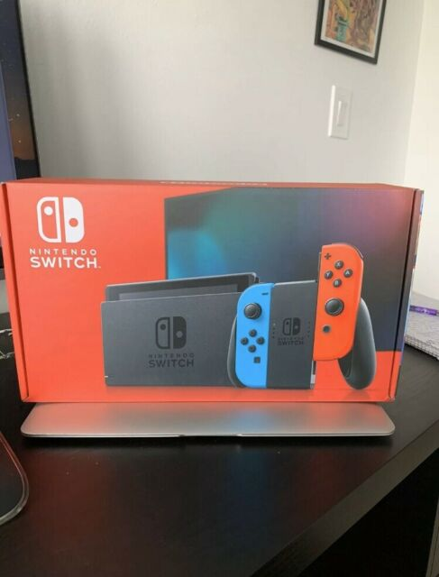Nintendo Switch Neon Red and Neon Blue Joy-Con Console SHIPS SAME DAY