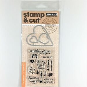 Hero Arts Stamp /& Cut So Sorry Clear Stamp Die Set Sympathy Sayings Heart Love