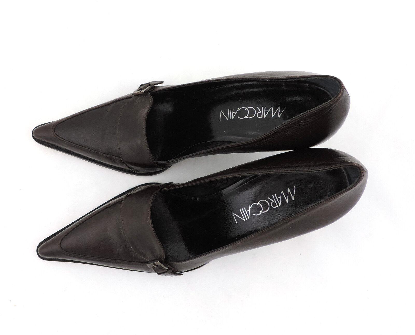 Marc Cain Pumps 39 braun neu high heels Leder Schuhe neu braun a7481d