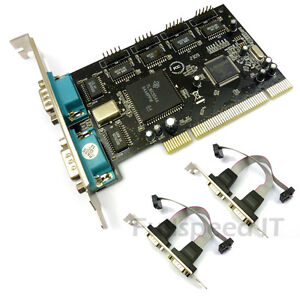 PCI-Six-Port-RS232-Serial-Card-RS-232-6-Ports-UK-Seller
