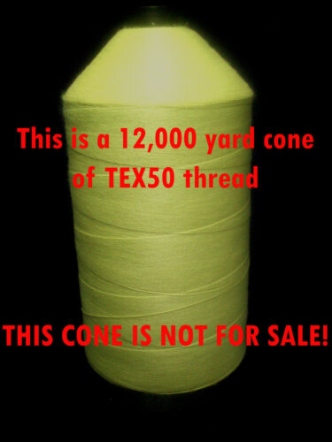 50 yd strong TEX50 DuPont KEVLAR Thread for Streamers Salt Water Flies etc.