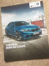 NEW BMW M2 BROCHURE  LIMITED NUMBERS  PROSPEKT NOT M3 CSL M5 M6 M1