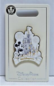 Walt-Disney-World-Cinderella-Castle-With-Mickey-Mouse-Sketch-Pin-BRAND-NEW-CUTE
