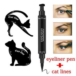 Pcs In Dualended Liquid Eyeliner PenStamp Cat Eyeshadow - Eyeshadow template