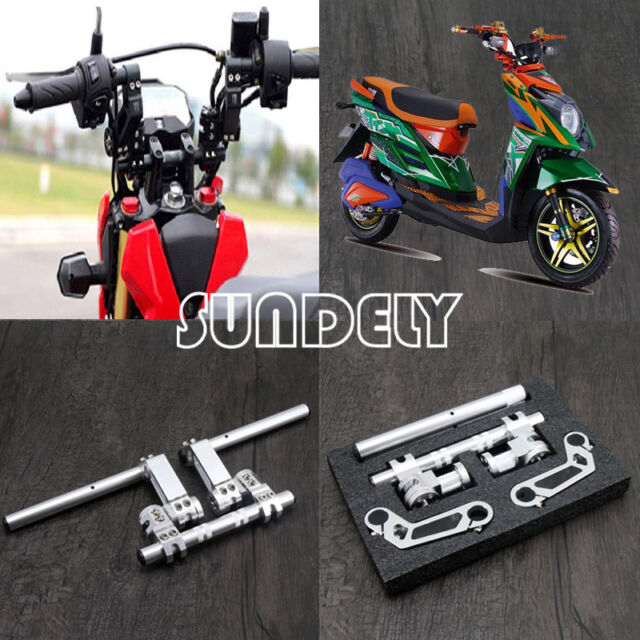 """7//8/""""Silver Motorcycle HandleBar System Scooter Adjustable Steering 125cc Chopper"""