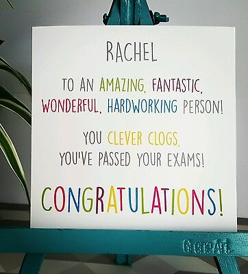 PERSONALISED Handmade Congratulations You/'ve Passed Exams Gcse A level Card