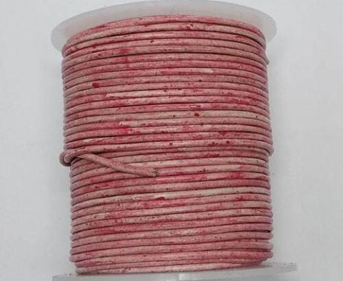 2 European Round 100/%  Leather Cord  1.5 3 mm Jewellery Craft many colours