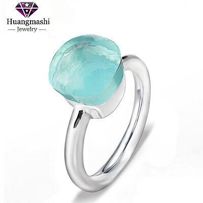 2016 best sale 925 Sterling Silver new style Sky blue Crystal women Ring PR037