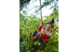 Climbing Garden Gnome Hanging Tree Ornament