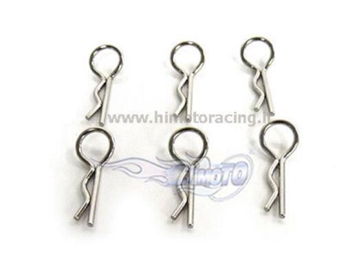 02053 Wäscheklammern 1//10 Clip für Karosserie Pin 6 Stücke Body Clip Himoto