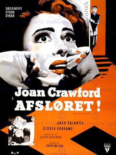 MOVIE FILM SUDDEN FEAR DANISH RELEASE CRAWFORD PALANCE ART PRINT POSTERBB6715B