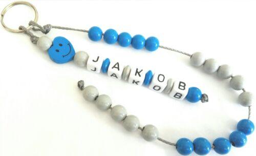 Rechenkette mit Namen des Kindes Perlen bis 20Reihe mit Herz Motiv