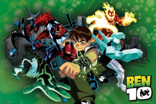 Maxi Poster 91.5cm x 61cm new and sealed Ben 10 Characters