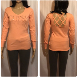 Women-s-Bling-Guess-Sweater-Size-Small-Open-Back